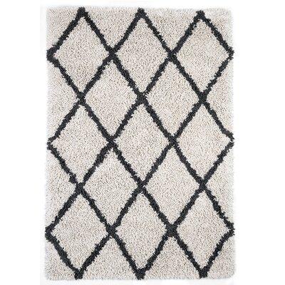 Fells Ivory/Gray Area Rug Rug Size: 5 x 8