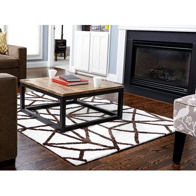 Biggers Ivory/Brown Area Rug Rug Size: 8 x 10