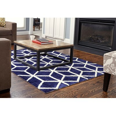 Buskirk Hand-Tufted Navy/Ivory Area Rug Rug Size: 9' x 12'