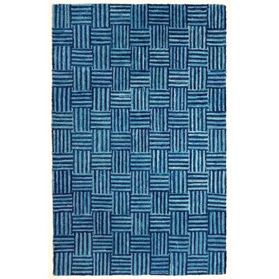 Armer Hand-Tufted Blue Area Rug