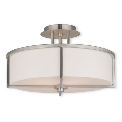 Rainer 3-Light Semi-Flush Mount Finish: Brushed Nickel