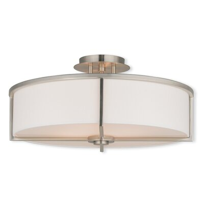 Rainer 4-Light Semi-Flush Mount Finish: Brushed Nickel