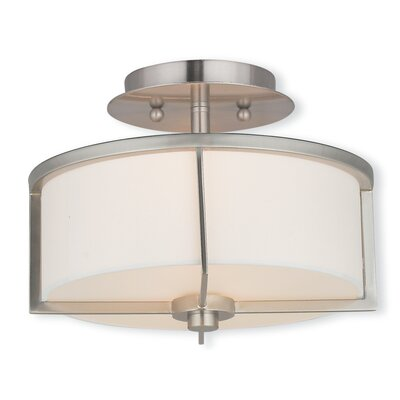 Rainer Semi-Flush Mount Finish: Brushed Nickel