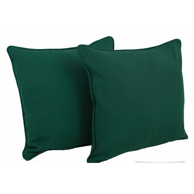 Seman Solid Cotton Throw Pillow Color: Forest Green