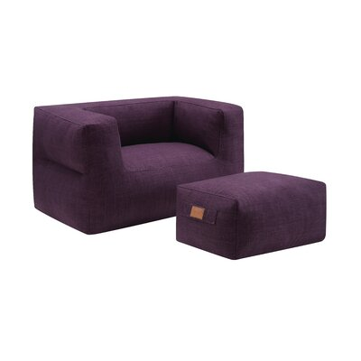 Cessna Chair and a half and Ottoman Upholstery: Purple