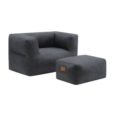 Cessna Chair and a half and Ottoman Upholstery: Gray