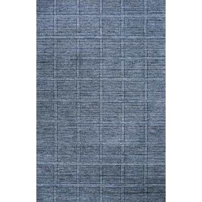Crutcher Hand-Knotted Denim Area Rug Rug Size: 86 x 136