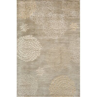 Martone Hand-Tufted Beige Area Rug Rug Size: Rectangle 5 x 8