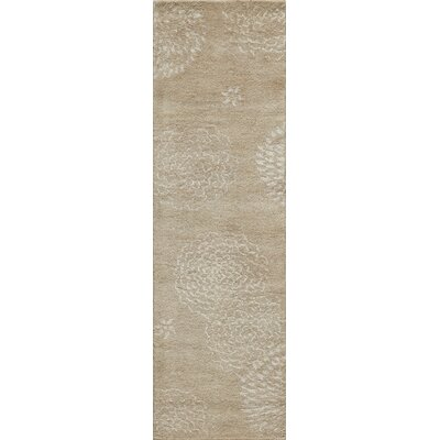 Martone Hand-Tufted Beige Area Rug Rug Size: Runner 23 x 8