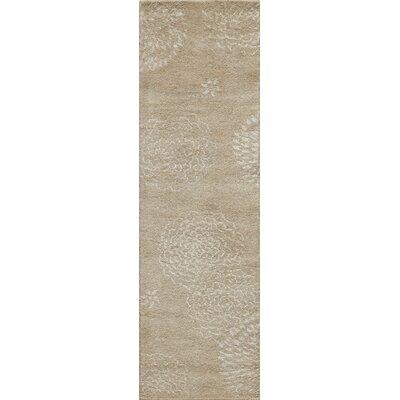 Zen Hand-Tufted Beige Area Rug Rug Size: Runner 23 x 8