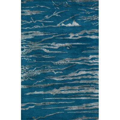Martone Hand-Tufted Cobalt Area Rug Rug Size: Rectangle 36 x 56