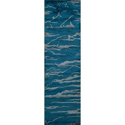 Martone Hand-Tufted Cobalt Area Rug Rug Size: Runner 23 x 8