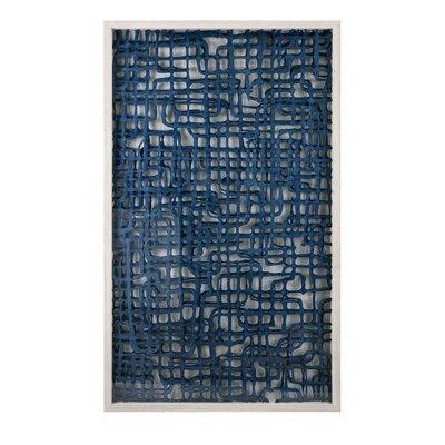 Brayden Studio Blue Shadowbox Paper Print