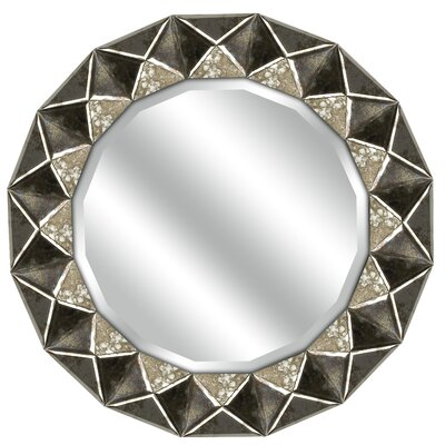 Brayden Studio Round Beveled Wall Mirror