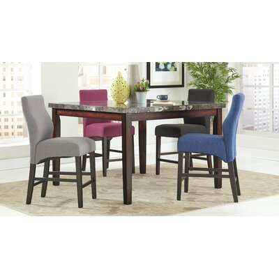 Everhart Bar Stool Upholstery: Purple