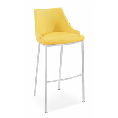 Lipscomb 30 Bar Stool Upholstery: Yellow