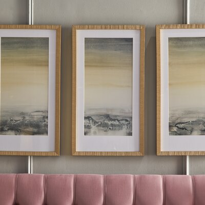 'Sable Island' 3 Piece Framed Painting Print Set