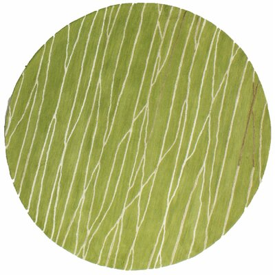 Lucus Hand-Tufted Guacamole Area Rug Rug Size: Round 6