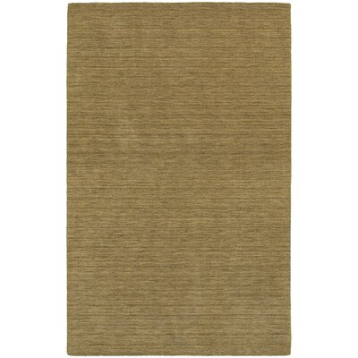 Barrientos Hand-Tufted Heathered Gold Area Rug Rug Size: 5 x 8