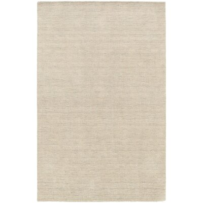 Barrientos Hand-Tufted Beige Area Rug Rug Size: 5 x 8