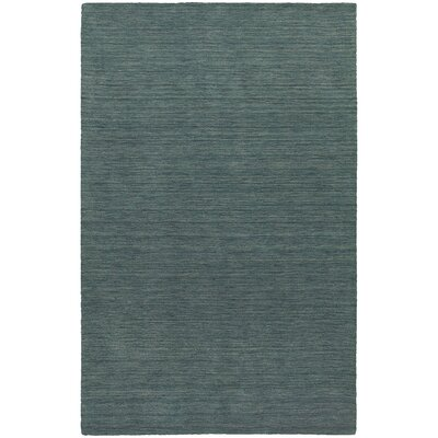Barrientos Hand-Woven Heathered Blue Area Rug Rug Size: 5 x 8