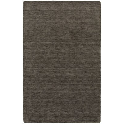 Barrientos Hand-Woven Heathered Charcoal Area Rug Rug Size: Rectangle 6 x 9