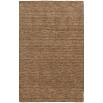 Barrientos Hand-Woven Heathered Tan Area Rug Rug Size: Rectangle 5 x 8
