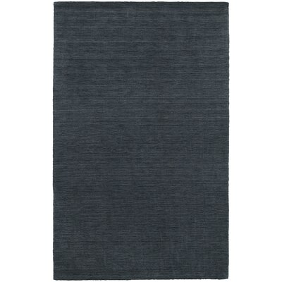 Barrientos Hand-Woven Heathered Navy Area Rug Rug Size: Runner 26 x 8