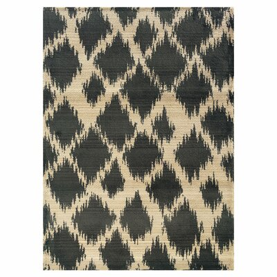Feltner Ivory/Black Area Rug Rug Size: Rectangle 4 x 59