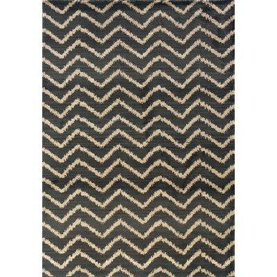 Feltner Grey/Ivory Area Rug Rug Size: 53 x 76