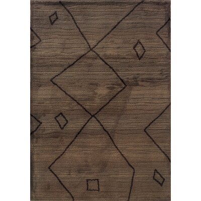 Feltner Brown/Ivory Area Rug Rug Size: Rectangle 710 x 1010