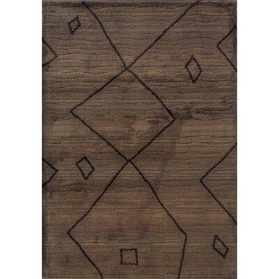 Feltner Brown/Ivory Area Rug Rug Size: 710 x 1010