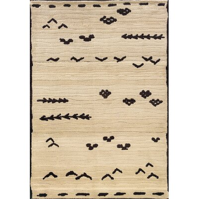 Feltner Ivory/Brown Area Rug Rug Size: Runner 27 x 10