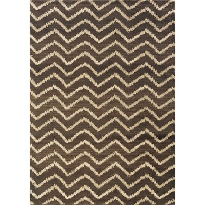 Feltner Brown/Ivory Area Rug Rug Size: Rectangle 99 x 122