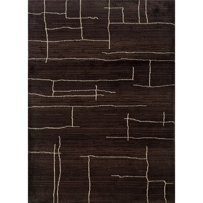 Feltner Brown/Ivory Area Rug Rug Size: Rectangle 53 x 76