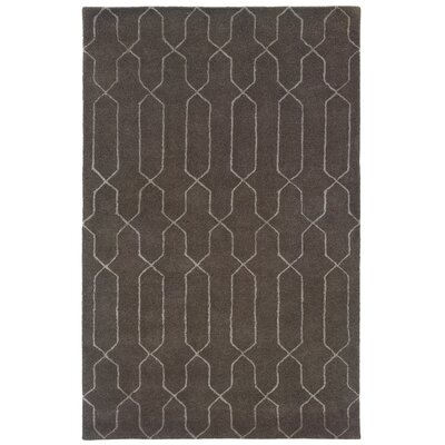 Bagley Grey Area Rug Rug Size: Rectangle 36 x 56