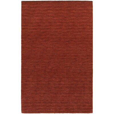 Barrientos Hand-made Red Area Rug Rug Size: 5 x 8