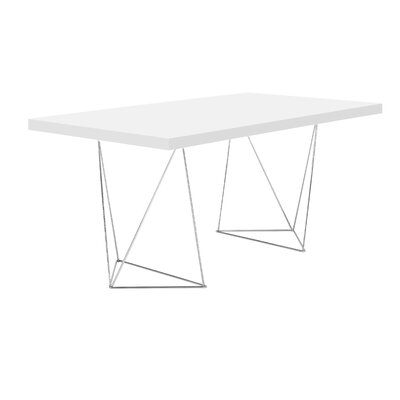 Durkee Dining Table Finish: Pure White, Size: 63