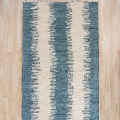 Portsmouth Blue/Ivory Area Rug Rug Size: Square 6