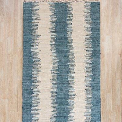 Portsmouth Blue/Ivory Area Rug Rug Size: Runner 23 x 117