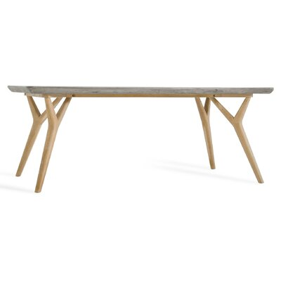 Lipscomb Dining Table Finish: Natural/Light Gray