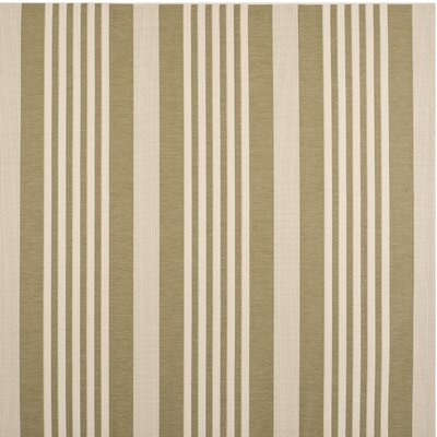 Sophina Green/Beige Indoor/Outdoor Area Rug Rug Size: Square 710