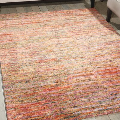 Nyssa Hand-Tufted Fire Opal Area Rug Rug Size: 99 x 139