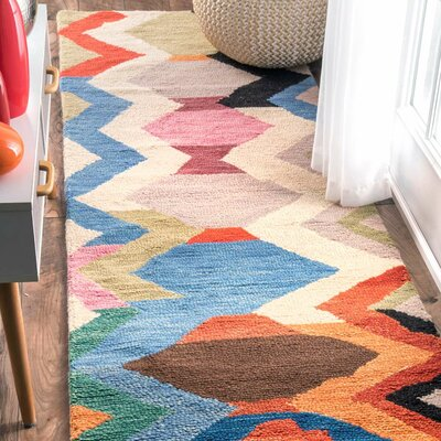 Morelli Hand-Tufted Area Rug Rug Size: Runner 26 x 8