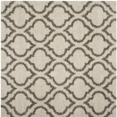 Melvin Shag Beige/Gray Area Rug Rug Size: Square 7