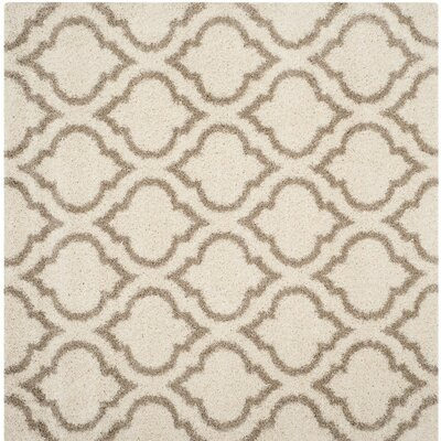 Hampstead Shag Brown/Beige Area Rug Rug Size: Square 7