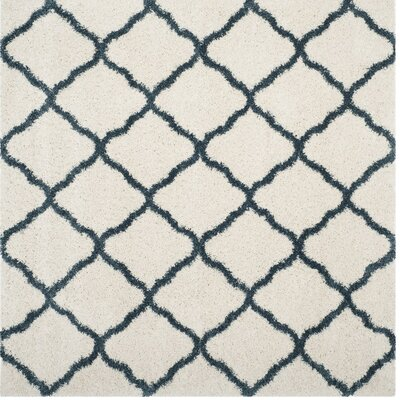 Humberto Beige/Blue Area Rug Rug Size: Square 7