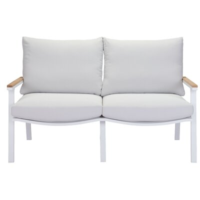 Gess Beach Loveseat Upholstery: Light Gray