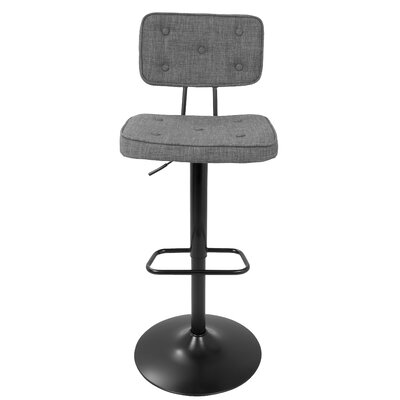 Charlotte Adjustable Height Swivel Bar Stool