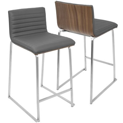 Citlali 26 inch Bar Stool Upholstery: Gray